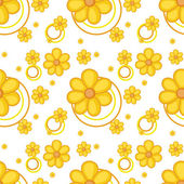 A yellow flowery design — Stock Vector