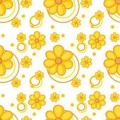 Een gele bloemrijke ontwerp — Stockvector