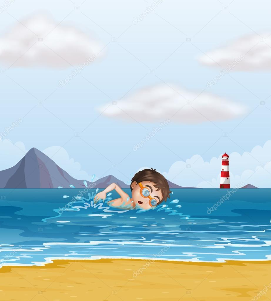 Swimming beach clipart