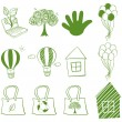 Eco-friendly drawings - Stock Vector