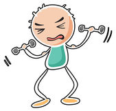 A man exercising — Stock Vector