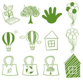 Eco-friendly drawings — Stock Vector