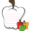 A bell pepper shaped stationery — Imagen vectorial