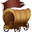 Vector de stock : Native wagon