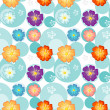 Seamless flowery design - Stockvectorbeeld