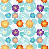 Disegno floreale senza soluzione di continuità — Vettoriale Stock