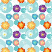 Seamless flowery design — Vecteur