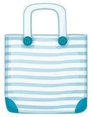 A blue handy bag — Stock Vector