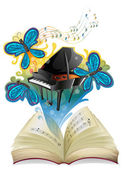 A musical book — Stock Vector