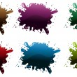 Different paint colors — Stock Vector