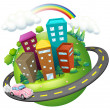 A road surrounding the city - Stock Vector