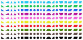 Different shapes — Stock Vector