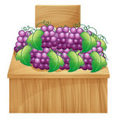 A fruit stand for grapes with an empty signage — Stock Vector