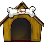 A dog house with a bone — Stock Vector