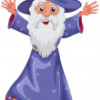Stock Vector: An old wizard