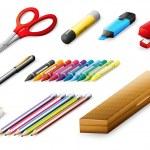 Different school supplies — Stock Vector #26163513