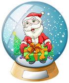 A crystal ball with Santa Claus inside — Stock Vector