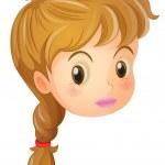 A pretty face of a girl — Stock Vector #26545657