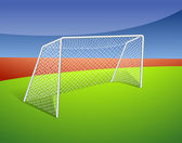 A soccer goal — Stock Vector