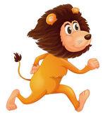 Un leone in esecuzione — Vettoriale Stock