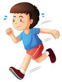A kid running — Stock Vector