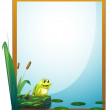 Royalty-Free Stock Vector Image: A frame with a frog in the pond