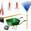 gardening tools — Stock Vector