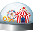 Stock Vector: A carnival inside a dome