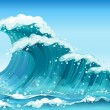 Big waves — Image vectorielle