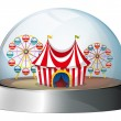 A dome with a carnival inside — Stock Vector