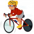 Stock Vector: Speedy biker