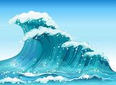 Big waves — Stock Vector