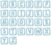 Doodle design of the alphabet — Stock Vector