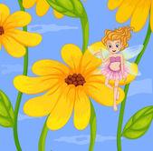 A flower fairy — Stock Vector