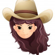 A pretty face of a cowgirl — Stock Vector