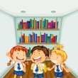 Three kids wearing their school uniforms — Stock Vector #27109217