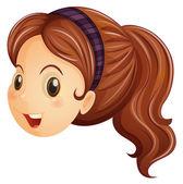 A face of a girl with a headband — Stock Vector