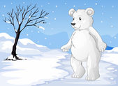 A polar bear freezing — Stock Vector