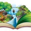 An enchanted book — Imagen vectorial