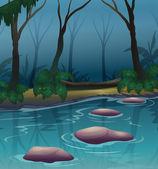 Ciemny las — Wektor stockowy