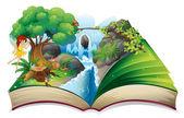 Un libro incantato — Vettoriale Stock