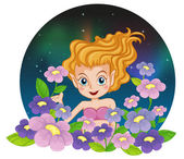 A flower fairy — Stock Vector