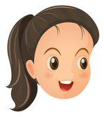 A face of a cute little girl — Stock Vector