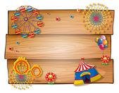 A wooden blank board — Stock Vector