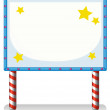 An empty frame banner with stars — Stock Vector