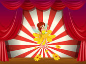 A flower pixie at the stage — Stock Vector
