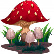 An image of a huge mushroom — Imagen vectorial