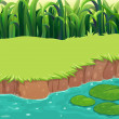 Stock Vector: Image of pond