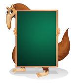 A kangaroo holding an empty board — Stock Vector