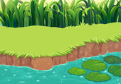 An image of a pond — Stock Vector